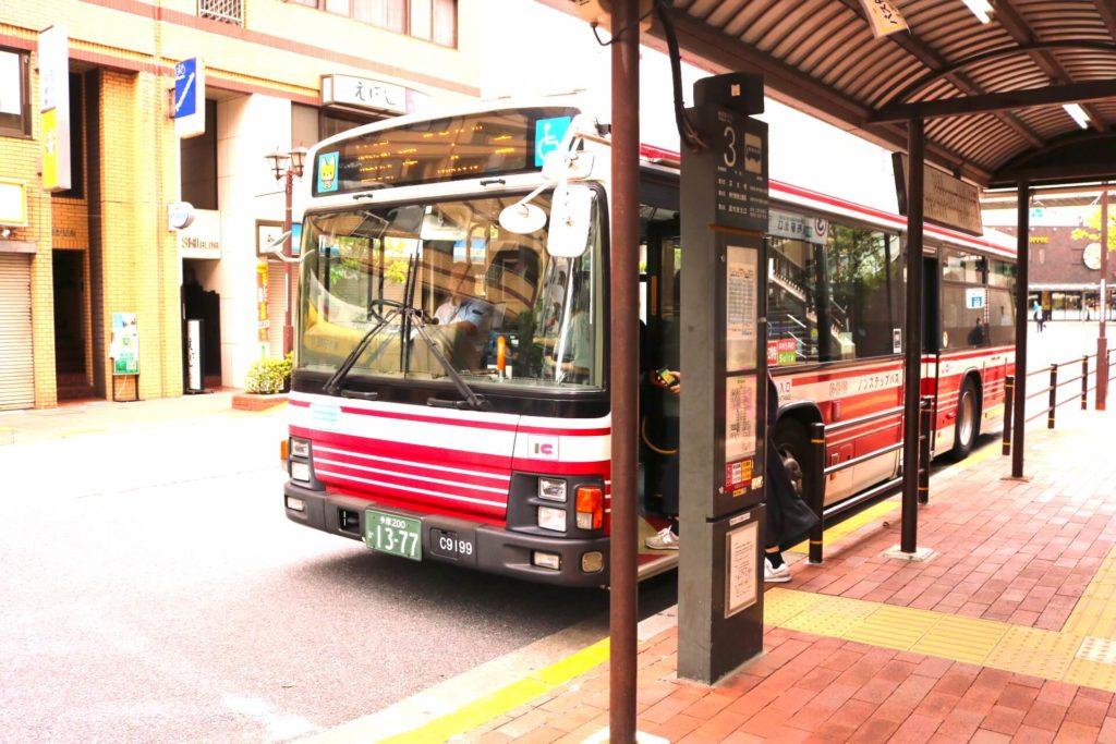三鷹のバス乗り場